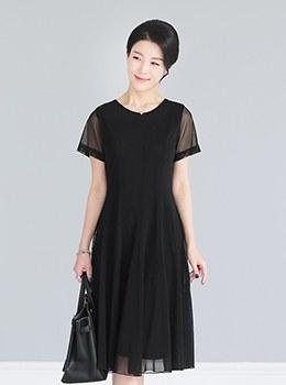 [9B-OP904]雪纺基本款双连衣裙