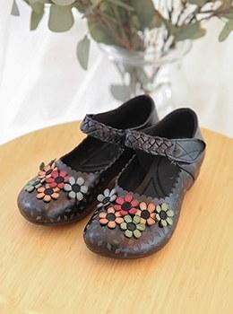 [YY-SH129]皮革花凉鞋
