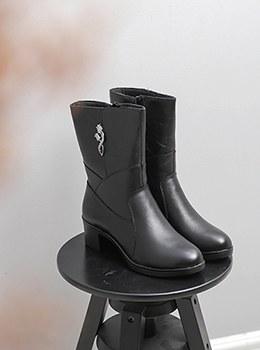 [YD-SH025]半靴装饰着郁金香