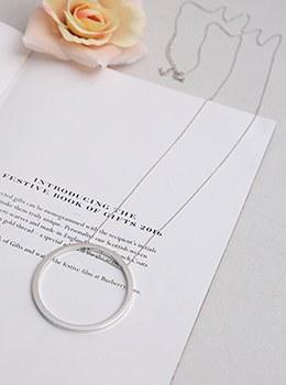 [YY-AC082]简约大戒指银项链