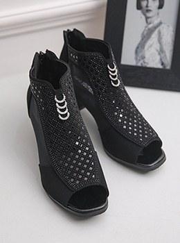 [YY-SH165]戒指饰品透视踝靴