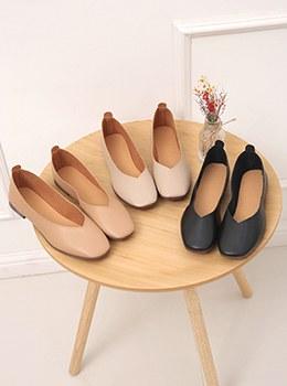 [YY-SH169]简约方形平底鞋