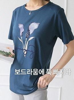 [9B-TS036]Inglés花圆形T恤