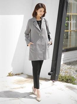 [9B-OU019] Cookie格纹领夹克