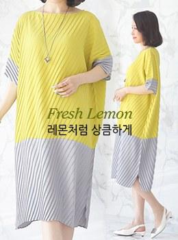 [9B-OP011]着色点百褶连衣裙