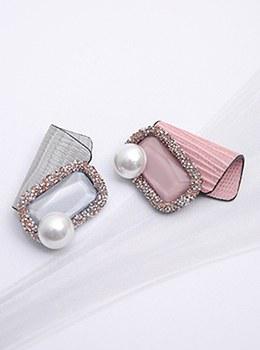 [YY-BR038]真皮方形珍珠胸针